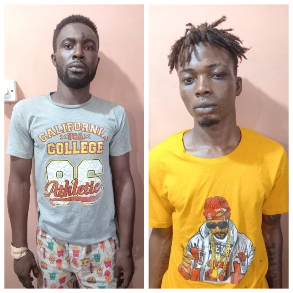 Two suspected robbers arrested at Dansoman