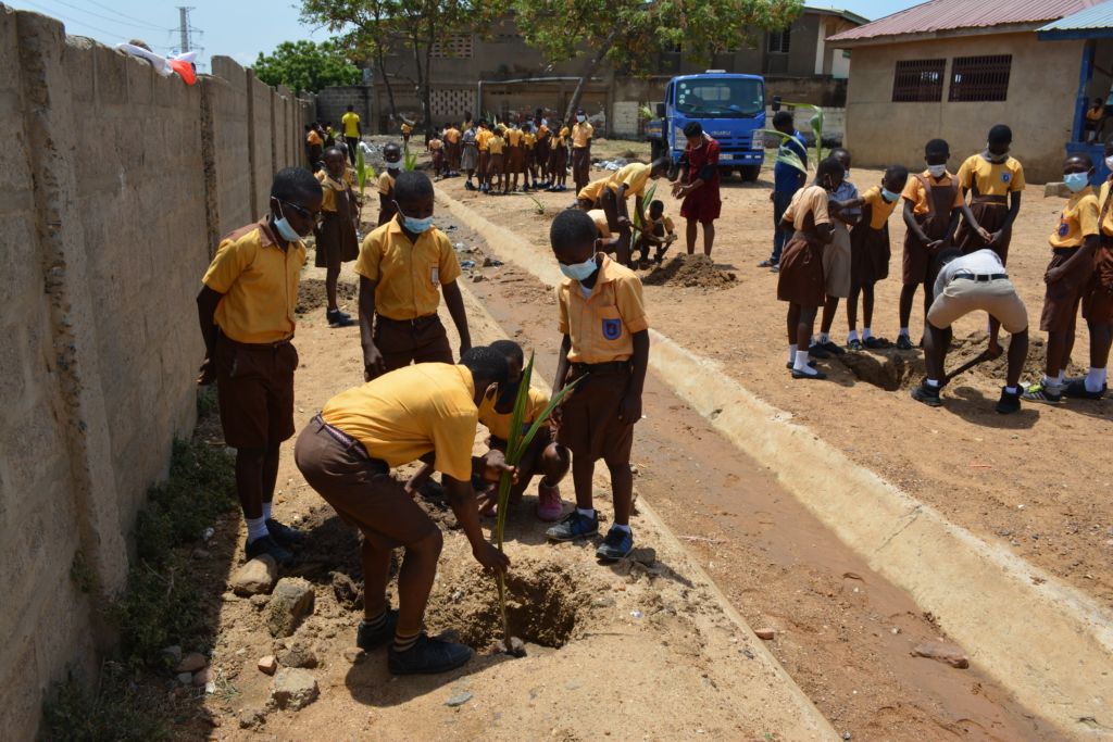 Meridian Port Services greens Tema Manhean Primary School with 200 trees