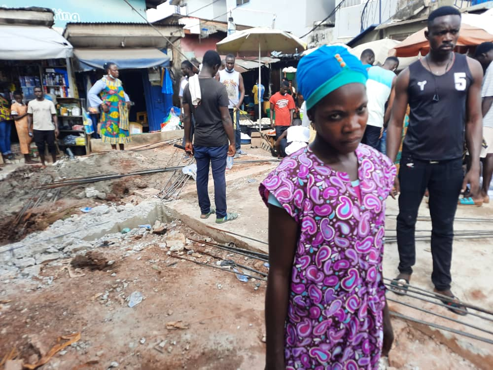 Asafo Market traders jubilate over demolition of storey building causing flood