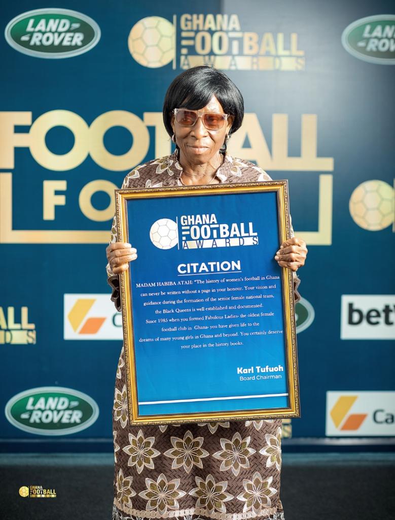 Joe Aggrey, J.E Sarpong and Habiba Attah receive special awards at Ghana football awards