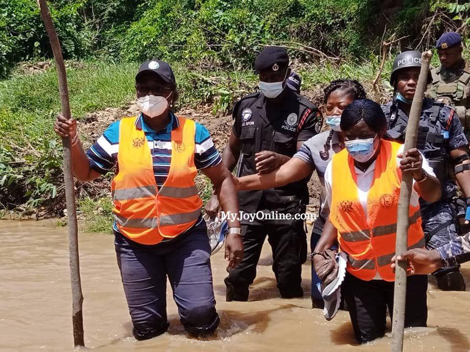 Bono Regional Security Taskforce arrests illegal miners, burns mining equipment