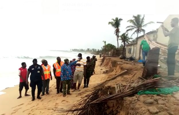 Ketu South tidal waves affected communities receives relief items from NADMO