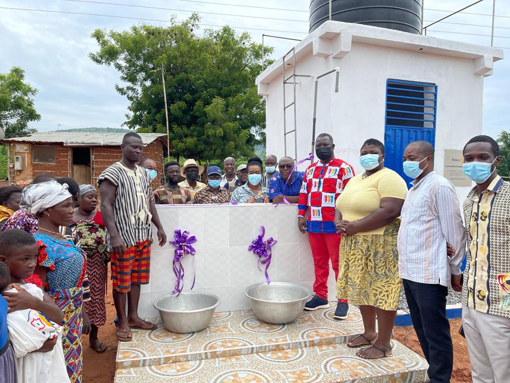 Rotary Club of Accra-West hands over borewells to Takaase, Awukugua Yensi, and Twumguaso in Okere District
