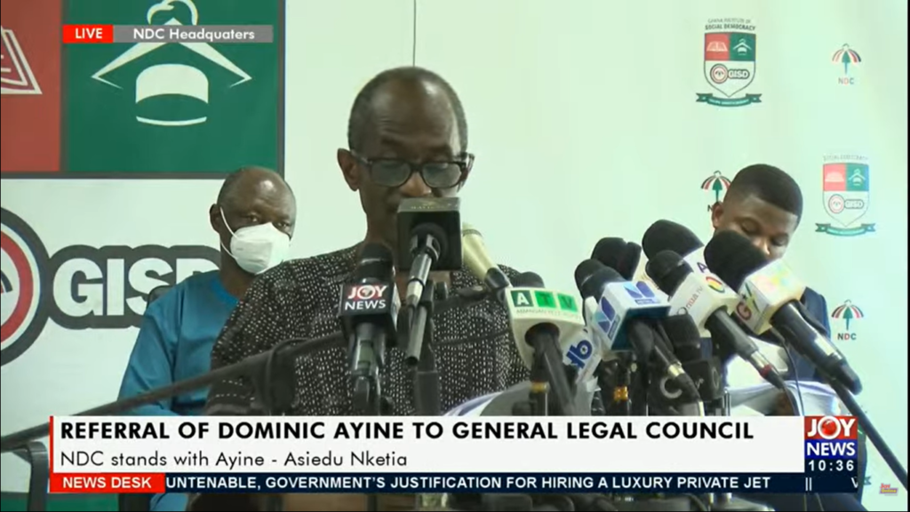 NDC demands CJ withdraws petition against Ayine at General Legal Council