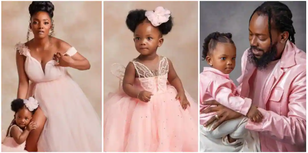 Simi, Adekunle Gold celebrate daughter's first birthday, releases song dedicated to her