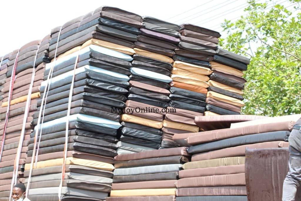 GETFund donates 50 double-decker metal beds, 700 pieces of mattresses to Koforidua Technical School