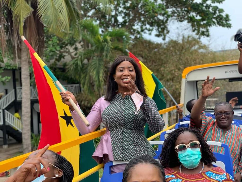 GTA outdoors city tour buses as part of 'Experience Ghana, Share Ghana' campaign