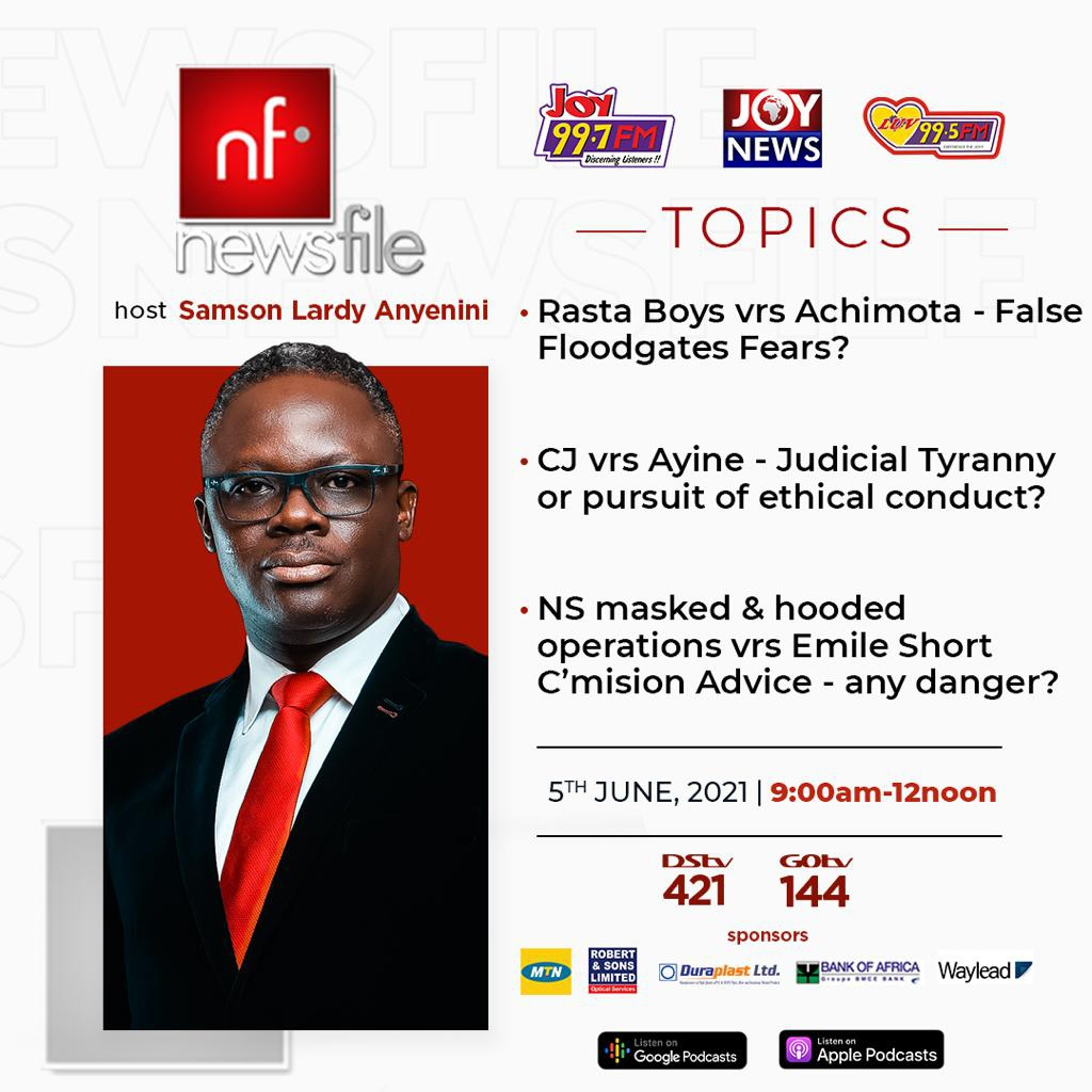 Playback: Newsfile discusses Achimota-Rastafarian brouhaha, CJ hauling Dominic Ayine before GLC
