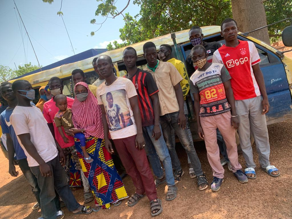 Burkina Faso nationals apprehended after illegally travelling to Ghana