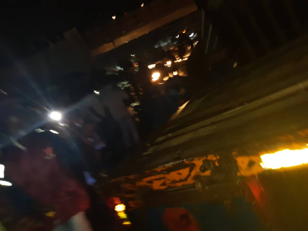 Cargo truck crashes into rails at Kwame Nkrumah Interchange flyover