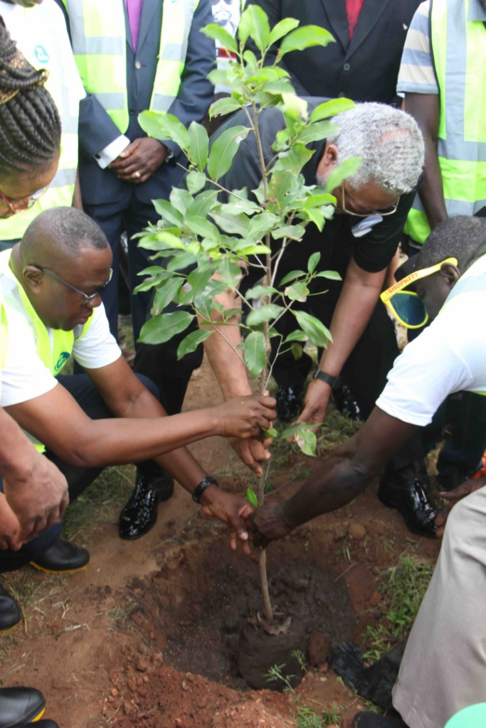 Rawlings Foundation, Achimota School and Forestry Commission plant trees to mark Rawlings' 74th birthday