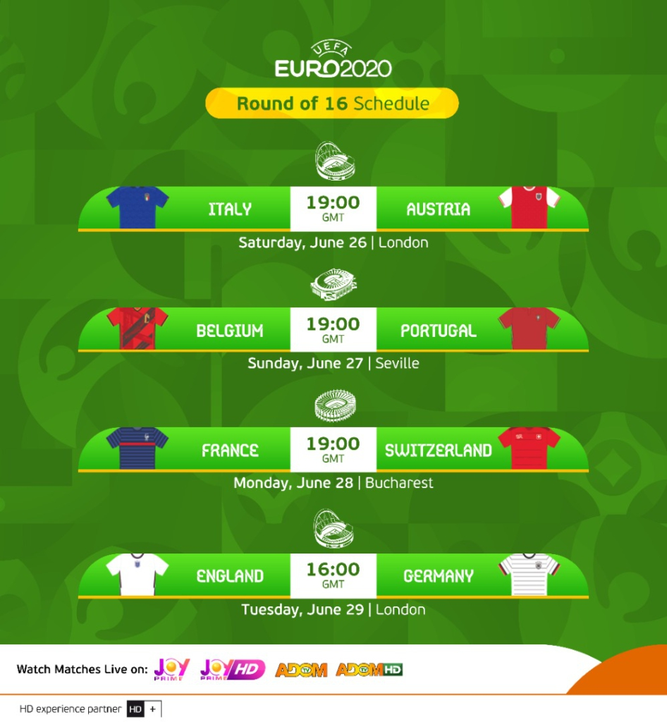 Euro 2020: Joy Prime and Adom TV confirm live schedule