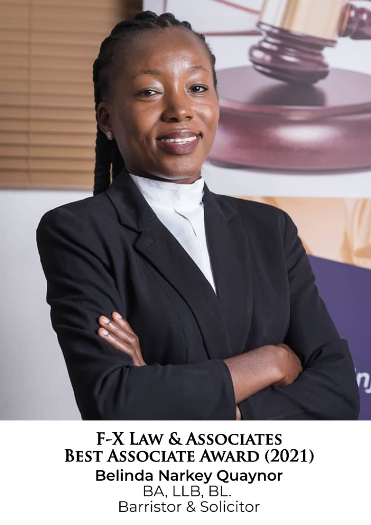 Belinda Narkey Quaynor adjudged Best Associate in F-X Law & Associates for 2021