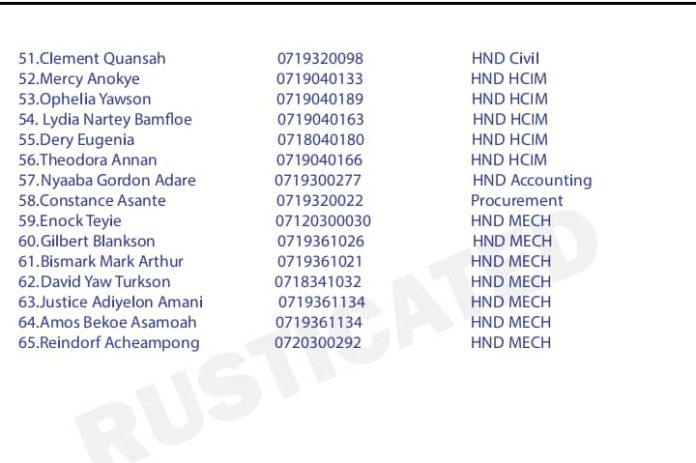 Takoradi Technical University suspends 65 students for examination malpractice