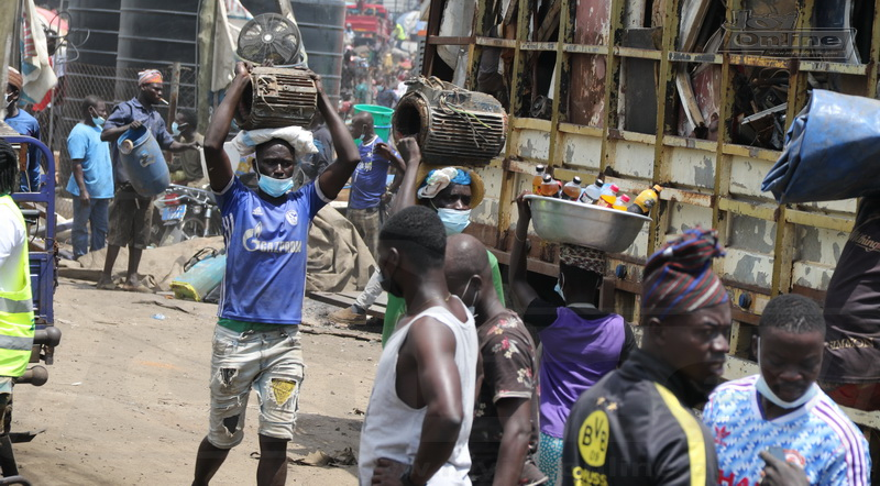 Photos: Relocation of Agbogbloshie onion traders - The day after