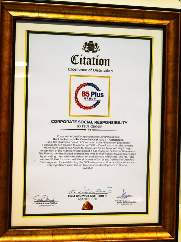 B5 Plus Limited emerge as Best Corporate Social Responsibility Company of the Year