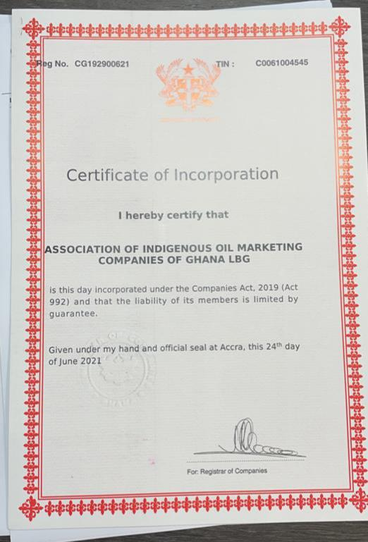 Association of Indigenous Oil Marketing Companies of Ghana launched