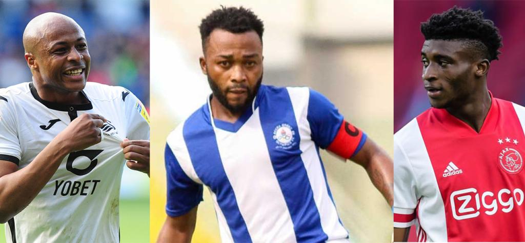 Andre Ayew, Kudus Mohammed and Gladson Awako battle for Ghana Footballer of the Year Award
