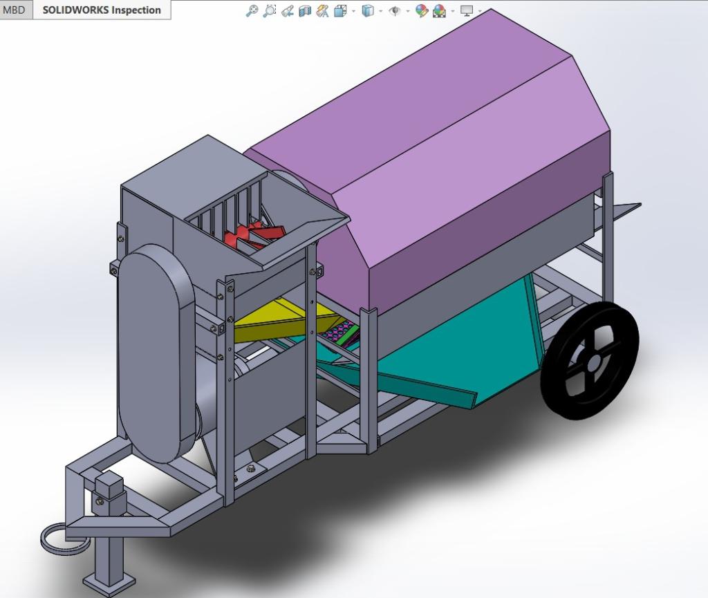 Kufuor Scholar invents cocoa pod breaking machine