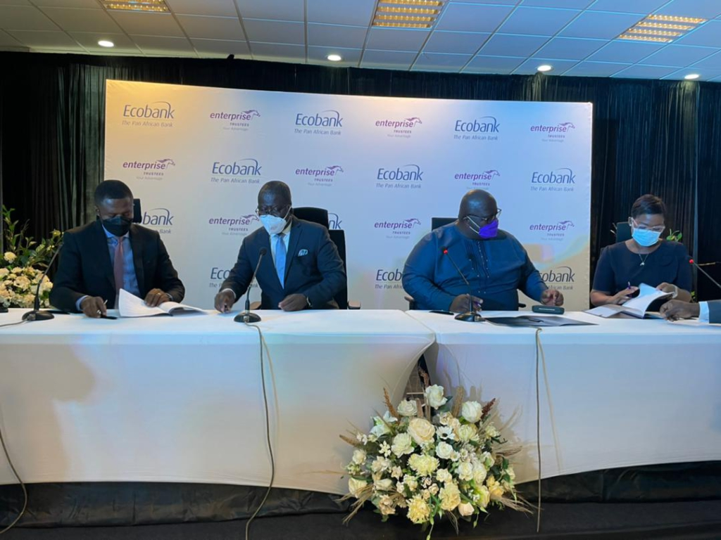 Ecobank partners Enterprise Trustees to help pension contributors acquire affordable homes