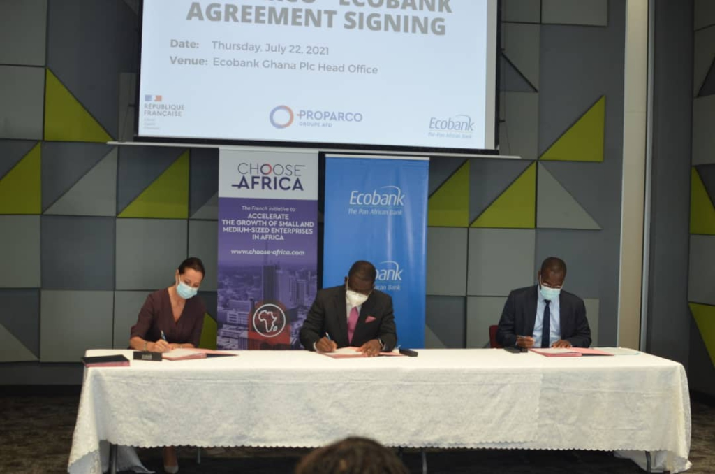 Ecobank Ghana and Proparco sign ¢50 million agreement to help MSMEs recover from covid-19 pandemic