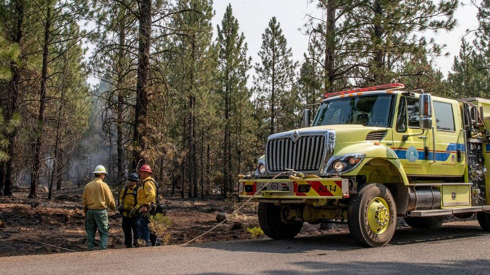 Evacuations as largest US fire burns 300,000 acres
