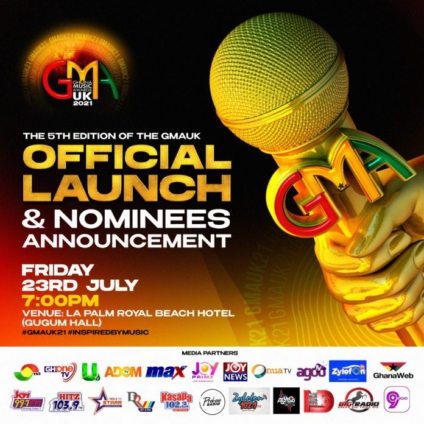 Ghana Music Awards UK launches 5th edition on July 23