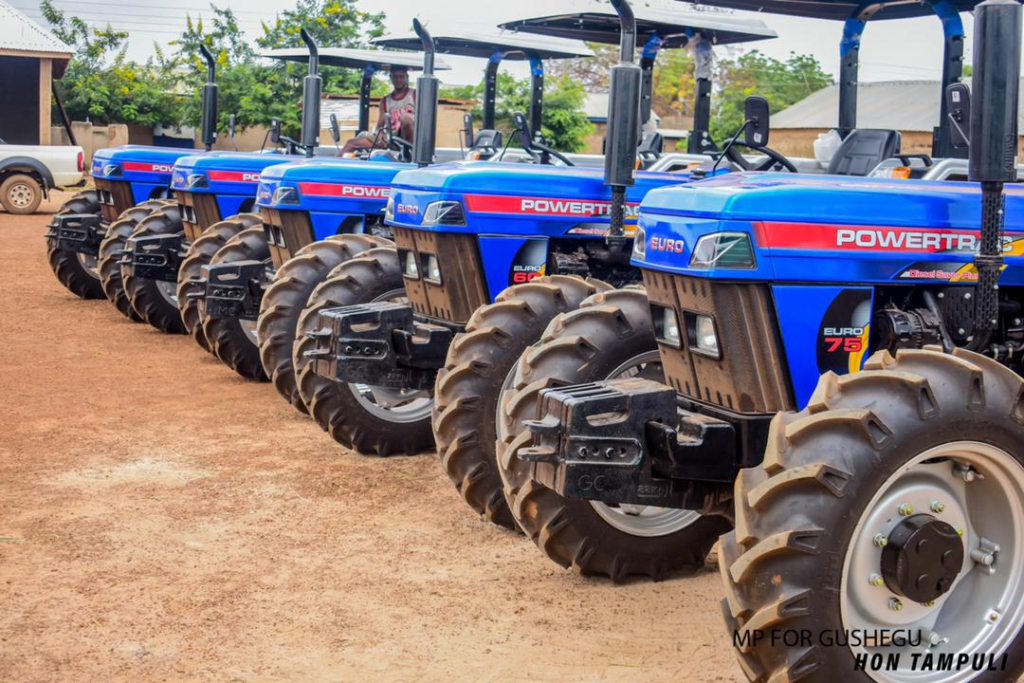 Gushegu MP supports establishment of Agricultural Mechanization Centre with brand new tractors