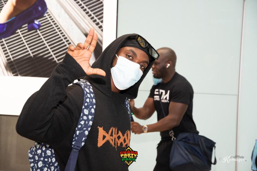 Joy Entertainment host, Kofi Jamar, DJ Mensah, others arrive in London for 'Ghana Party in the Park'