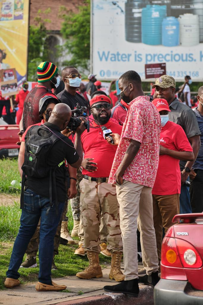 Photos: Onward marching NDC supporters walking for justice