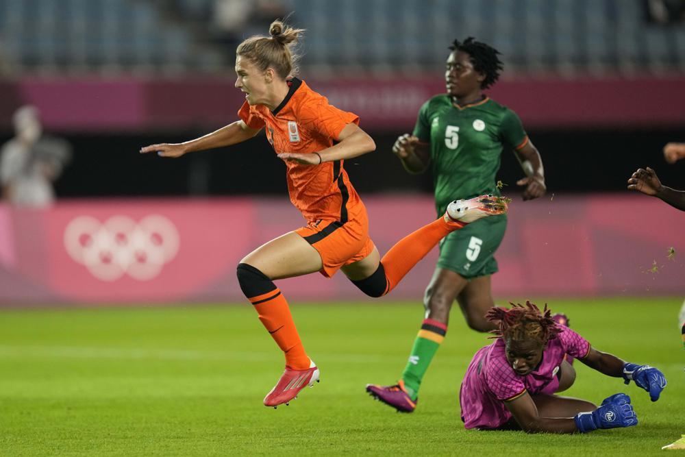 Tokyo 2020: Netherlands hit TEN past Zambia in Olympic women's football