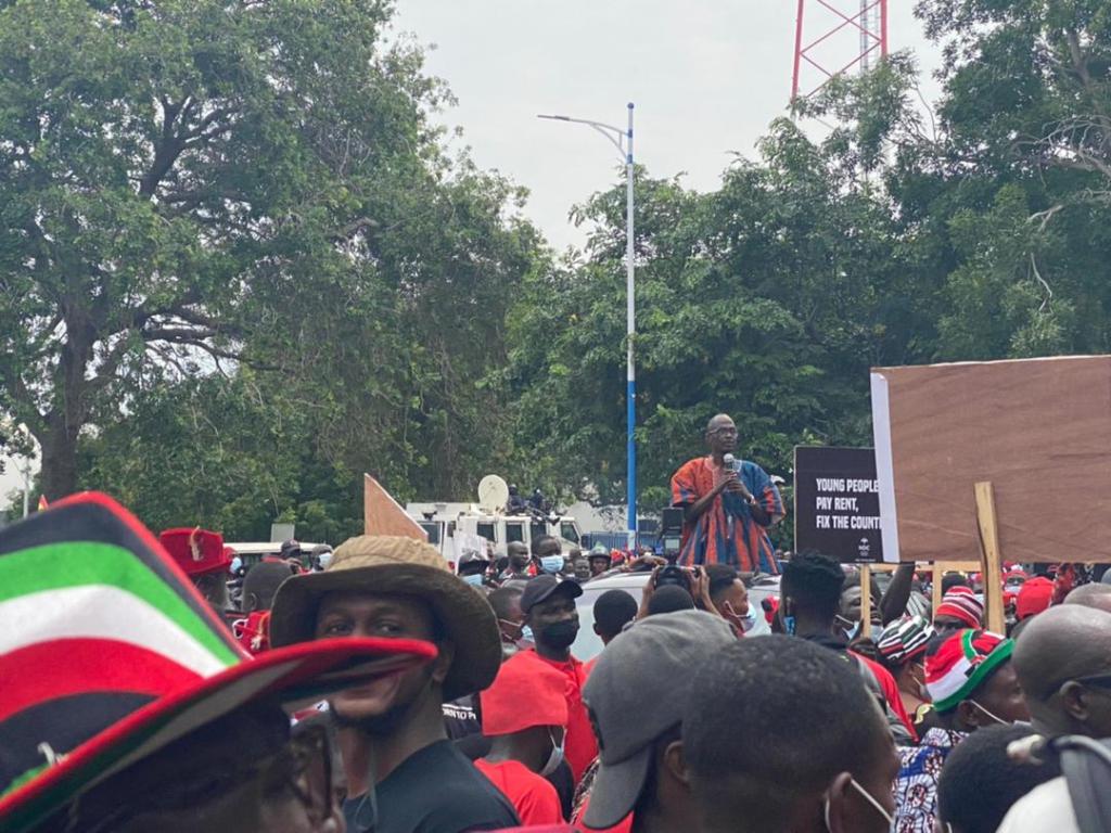 NDC protestors present petition to Presidency