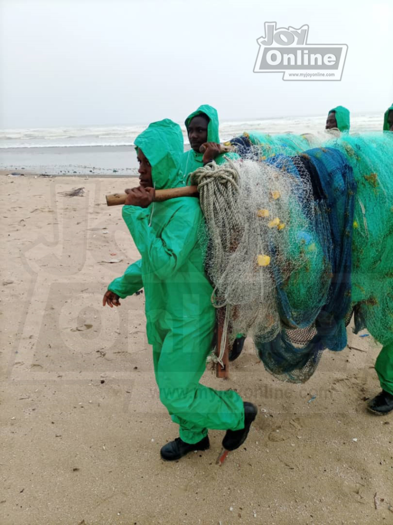 1 person arrested, fishing nets seized at Atuabo for flouting closed season directives