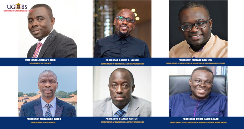 6 UGBS professors named among Ghana's top 100 lecturers