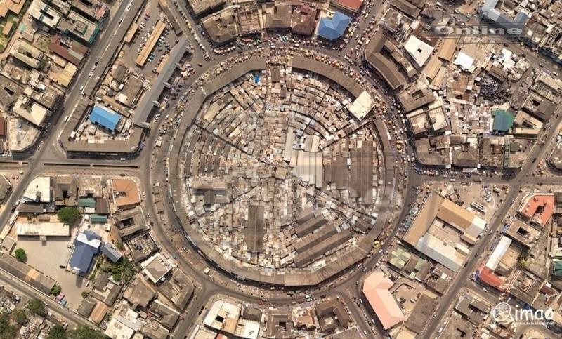 Takoradi Market Circle pulled down