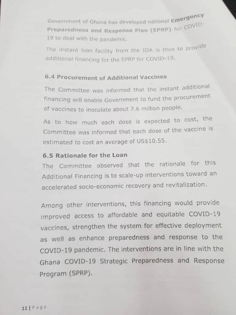 Covid-19: Parliament approves additional $200m loan from World Bank