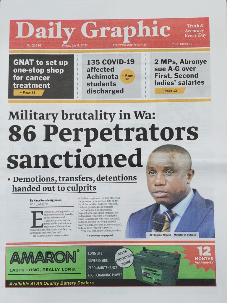 Today's front pages: Friday, July 9, 2021