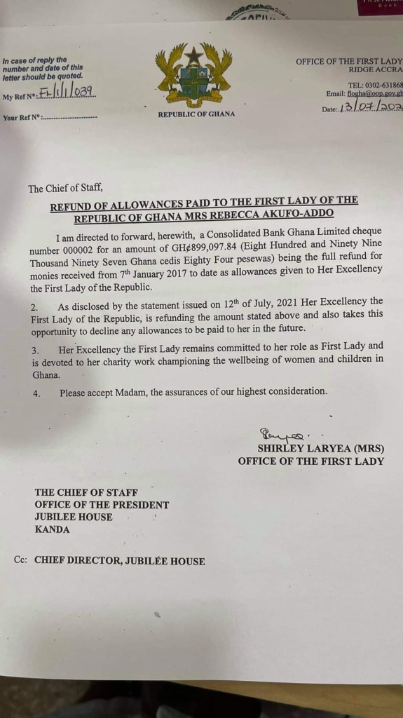 Refund of allowance by First Lady good, but that isn't the total amount - Ato Forson