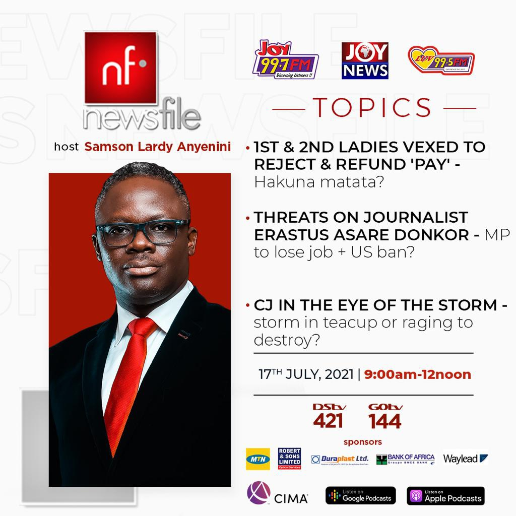 Playback: Newsfile discussed presidential spouse emolument, threats on journalists and $5m bribery allegation against CJ