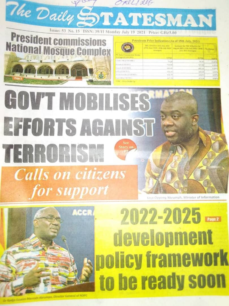 Today's front pages: Monday, July 19, 2021