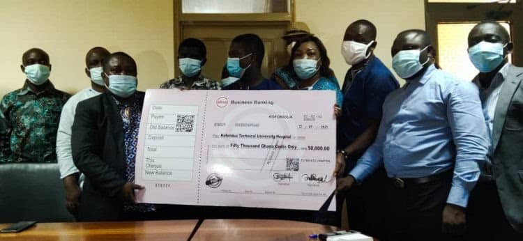 TUTAG, Koforidua Chapter, donates GH¢50,000 to support construction of university hospital