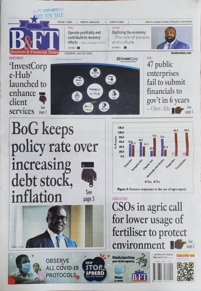 Today's frontpages: Tuesday, July 27, 2021