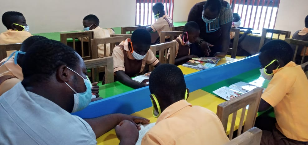 Ursula Owusu, Sam George, others join hands to commission ICT centre, library at Akyem-Bieni