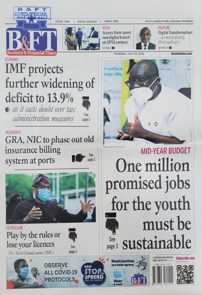 Today's frontpages: Thursday, July 29, 2021