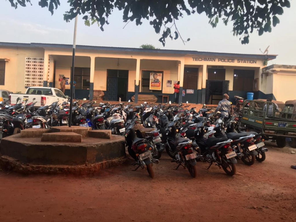 Police impound 89 motorbikes, 4 tricycles at Techiman