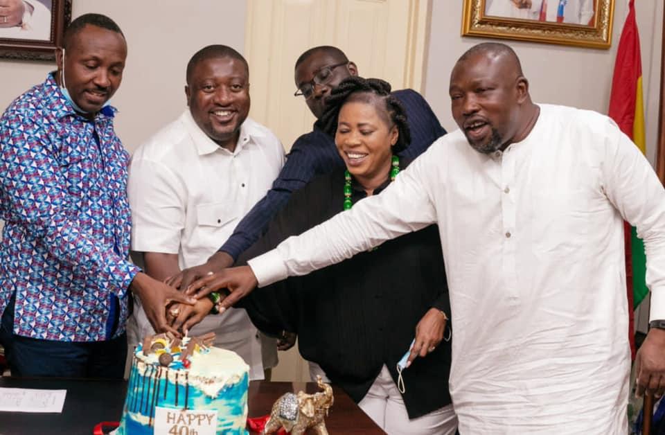 Nana B celebrates 40th birthday with presidency, NPP leaders