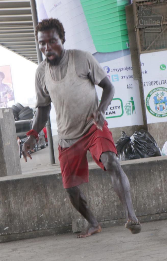 Photo: Mentally challenged man shows jumping skills