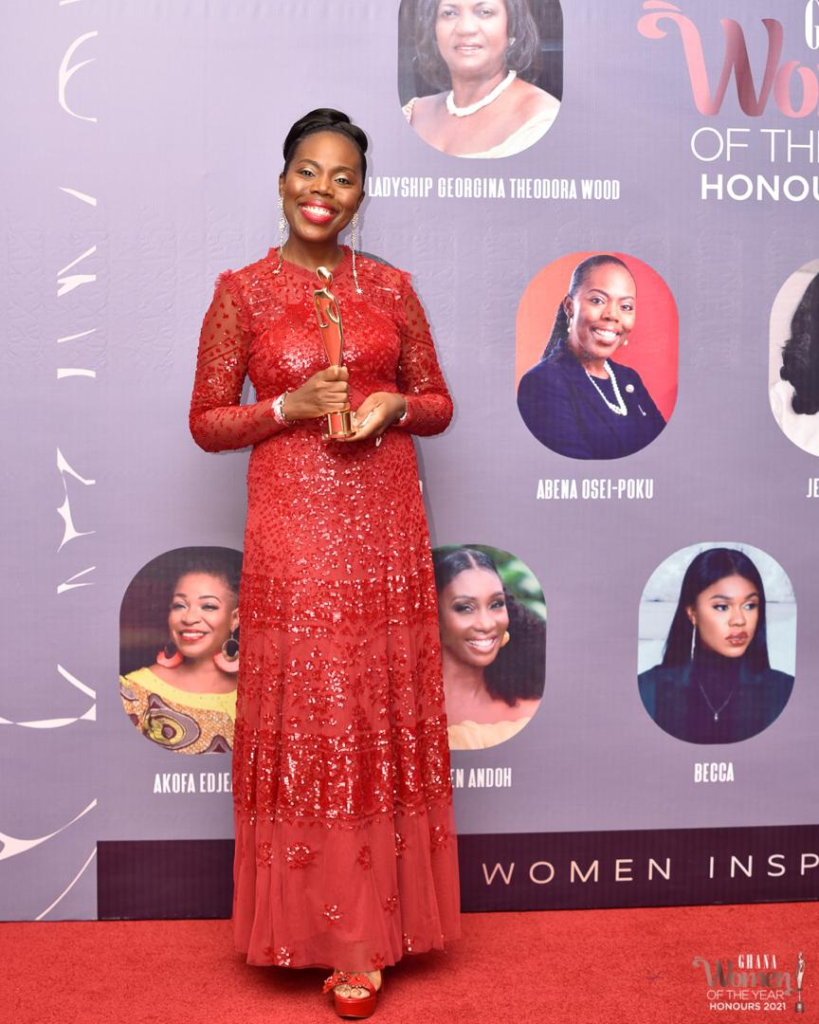 Absa Bank MD, Abena Osei-Poku named top Corporate Personality at Ghana Women of the Year Honours