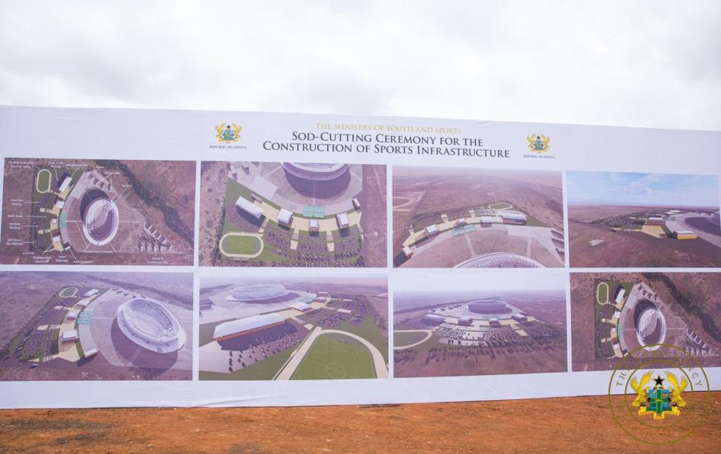 African Games 2023: Akufo-Addo cuts sod for $145m Borteyman Sports Complex