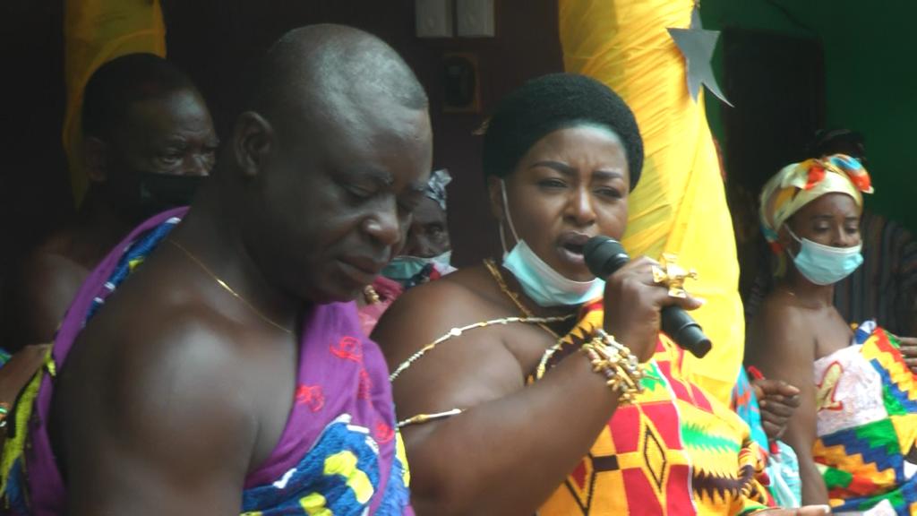 Akufo-Addo enstooled as 'Nkosohene' at Chiraa